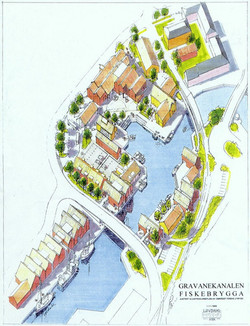 Fiskebrygga  - Gravane kanalen