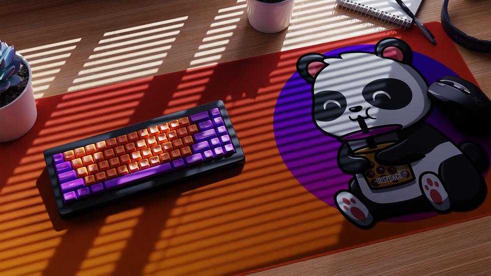 BobaTea Panda OrangeAndPurple XXL Deskpad (Groupbuy) Phase II