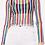 Thumbnail: Jawbreaker - Vertical Rainbow Stripe Mesh Top