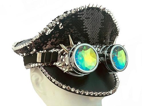 KBW - Black Burning Man Sequin Hat