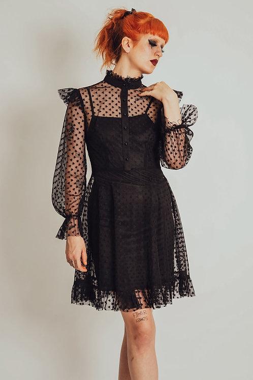 Jawbreaker - Don't Mesh With My Heart Ruffled Skater Dress