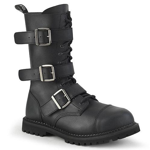 Demonia Riot-12BK Vegan Leather