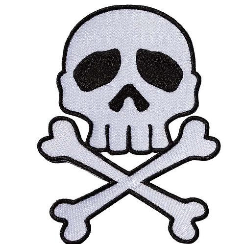 Kreepsville 666 - Skull Cross Bones White Patch