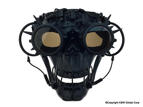 KBW - Steampunk Skull Mask with Goggles