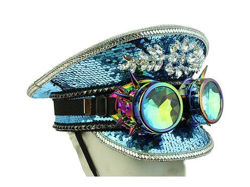 KBW - Sky Blue Burning Man Sequin Hat