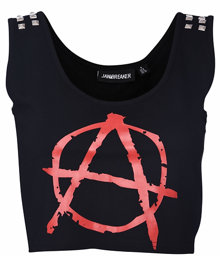 Jawbreaker - Anarchy Studded Crop Top