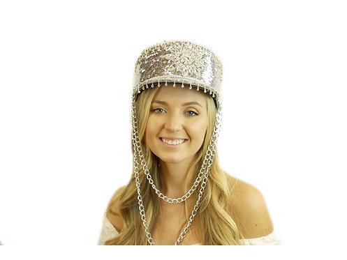 KBW - Silver Burning Man Sequin Hat