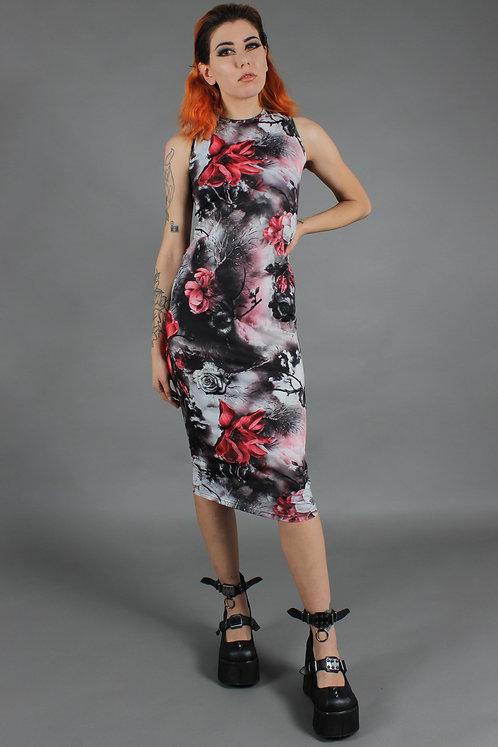 Jawbreaker - Dark Passions Floral Tie Up Dress