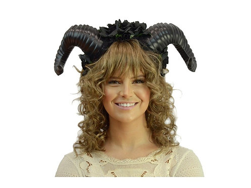 KBW - Floral Ram's Horn Headband