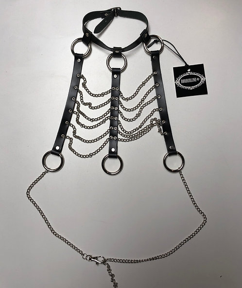Borderline - Leather and Chain Ribcage Harness