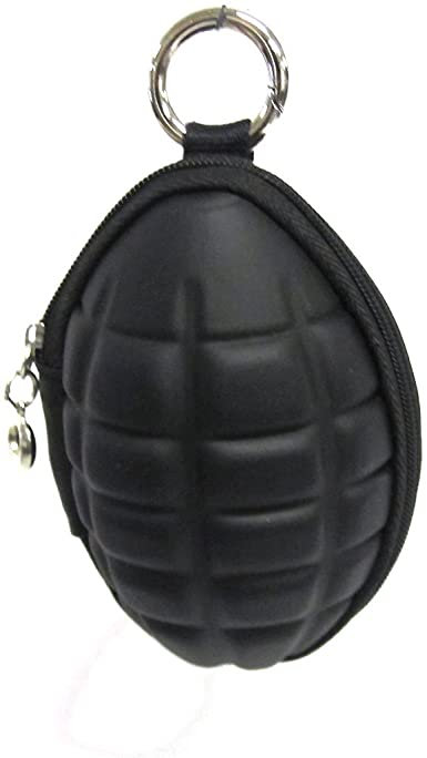 Novelty Grenade Zippered Coin Purse Pouch and Key Holder