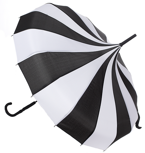 Sourpuss - Pagoda Umbrella Black/White