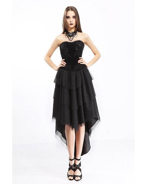 Pentagramme - Velvet Strapless Heart Dress