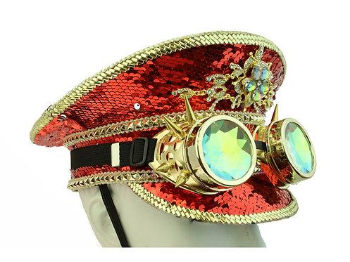 KBW - Red Burning Man Sequin Hat