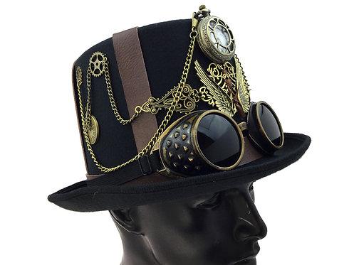 KBW - Steampunk Dress Hat with Pocketwatch