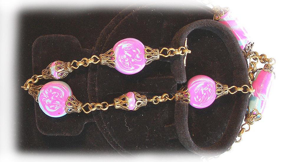 Purple marble beads