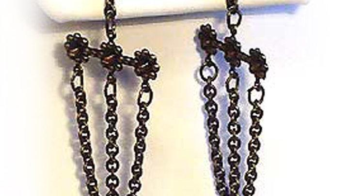 Earrings Dark purple coins