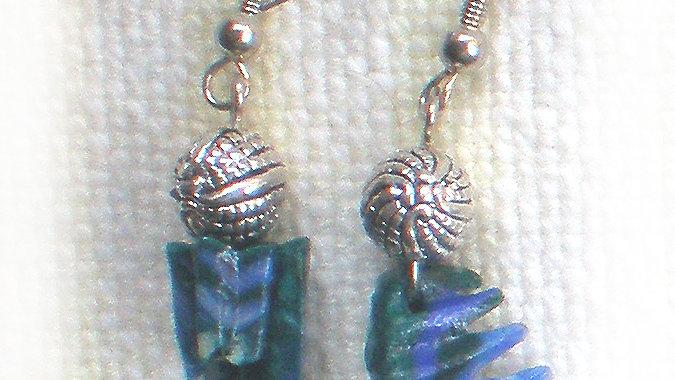 Earrings Blue Green