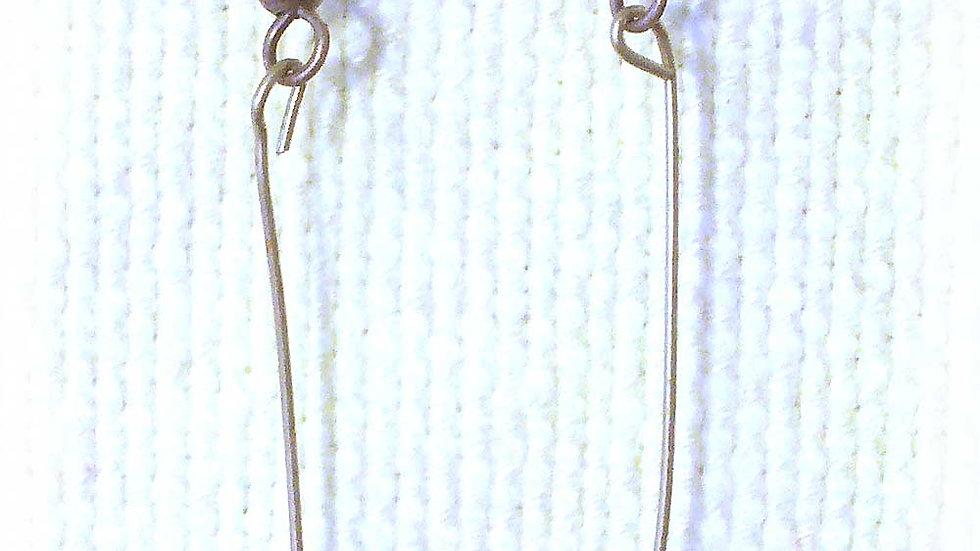 Earrings Purple-pink coil