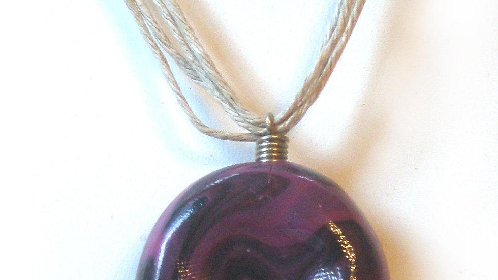 Purple marble pendent