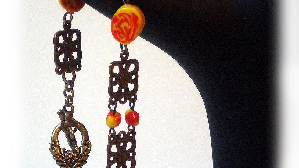 Red-yellow beads