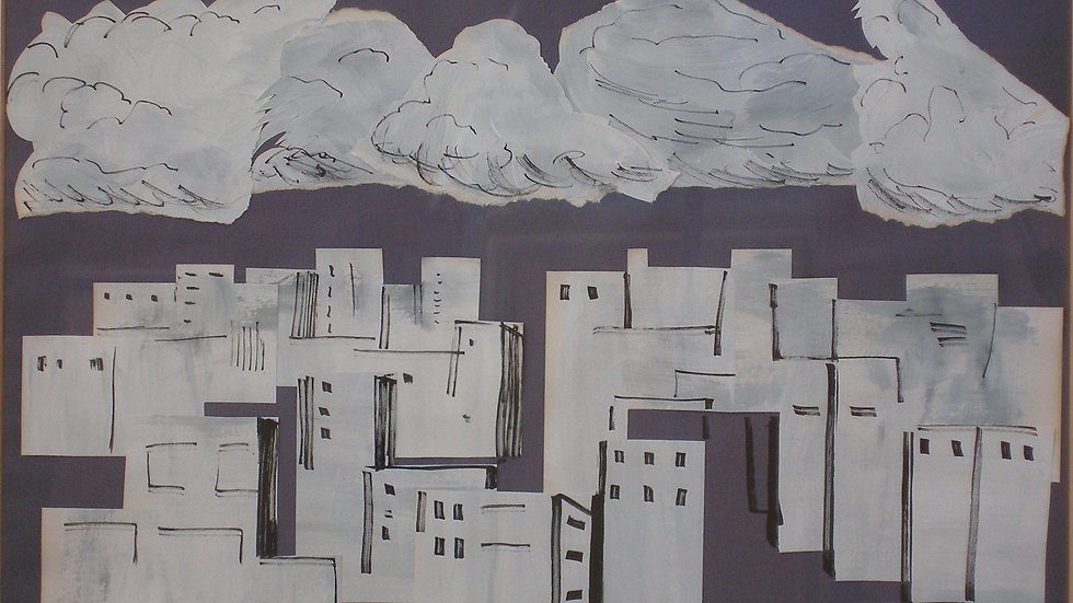 Clouds and city