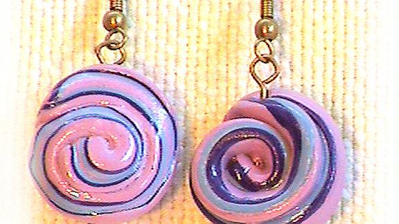 Earring Pink swirl