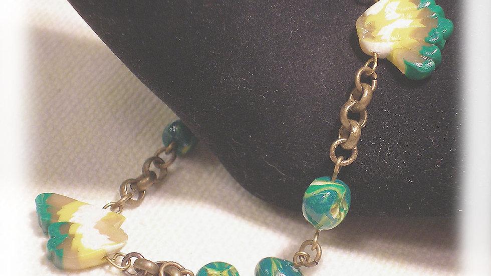 Green-yellow beads