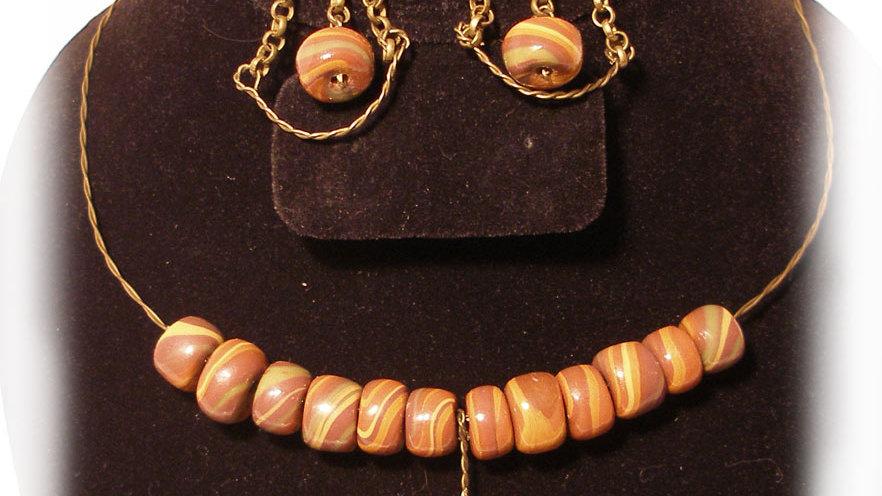 Brown tones beads