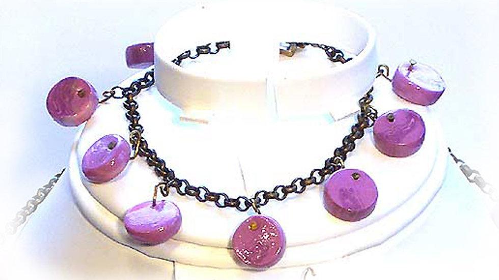 Dark purple beads
