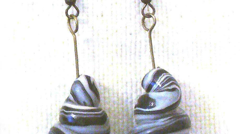 Earrings Gray Coil