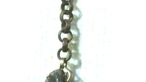 Earrings Rock hangs on long chain