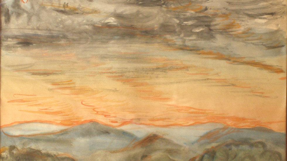 Cloudy Golan sunset