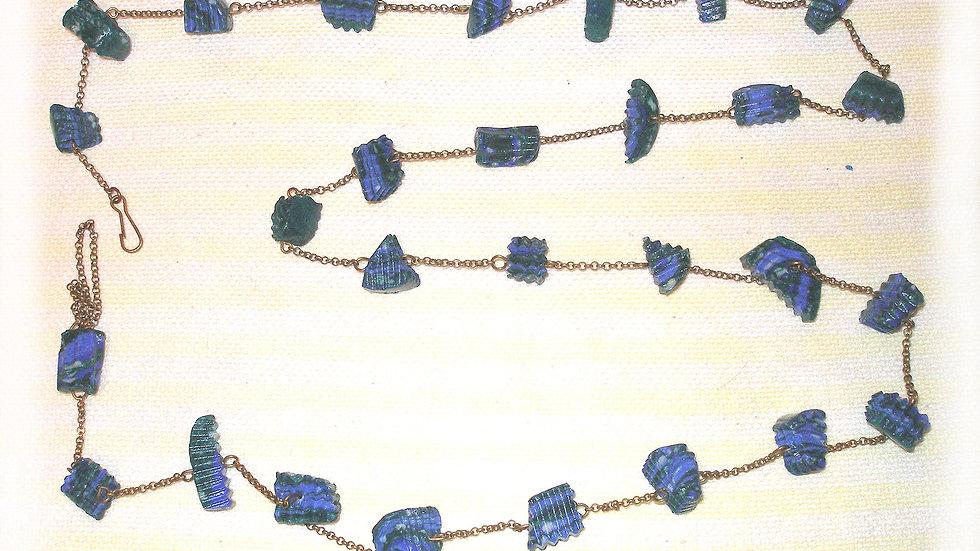 Blue-green beads