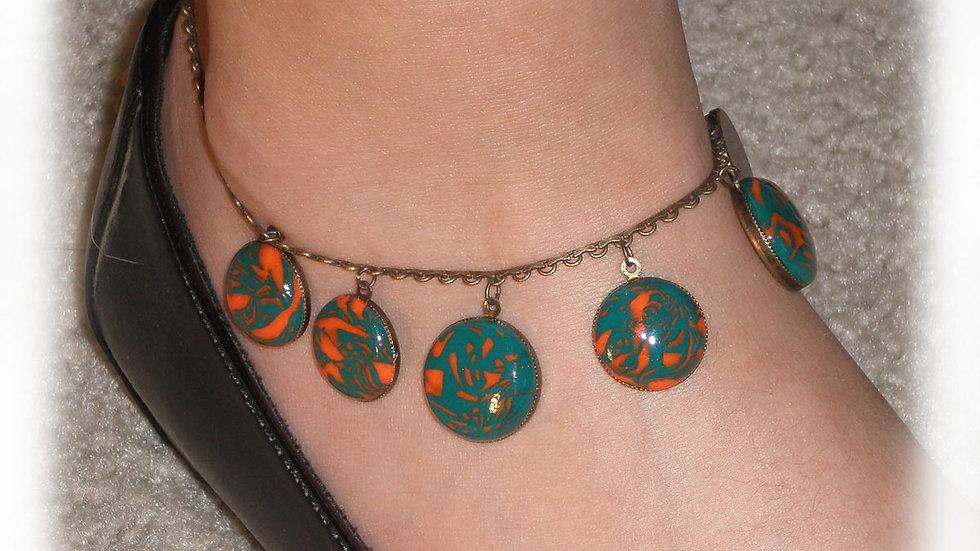 Green-orange beads