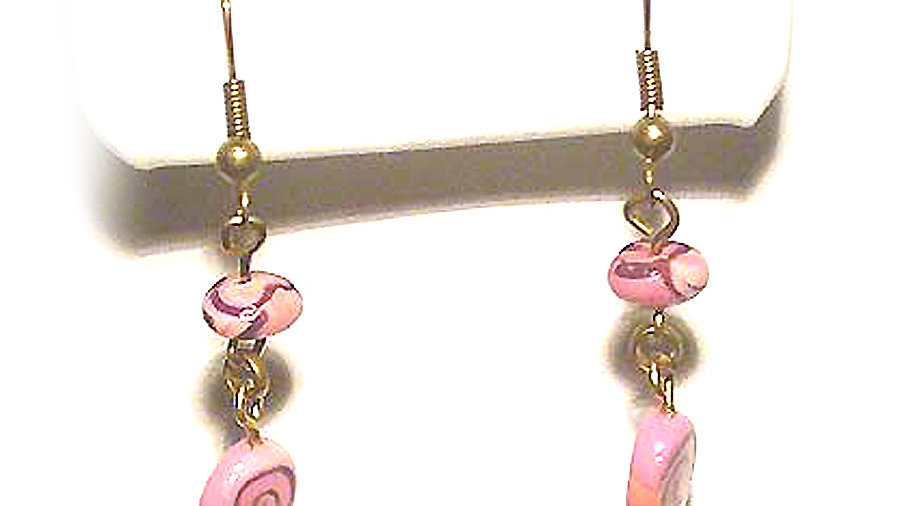 Earrings Pink swirl