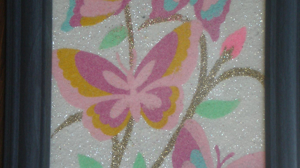 Flowers on green frame