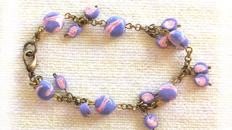 Blue-pink beads
