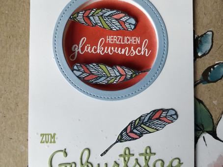 Federkarte mit Gluckloch - #GDP197