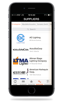 TheatreDNA App | Suppliers