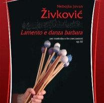 LAMENTO E DANZA BARBARA op. 32   marimba+ percusison trio score and parts