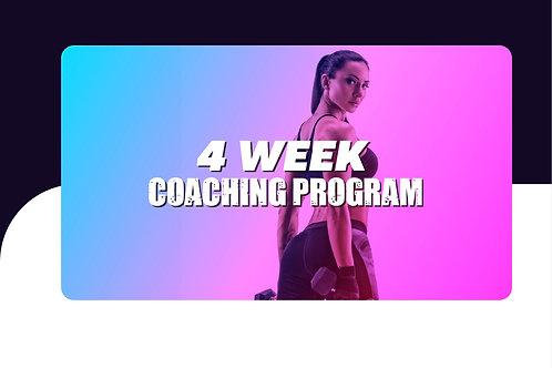 4 Week Coaching