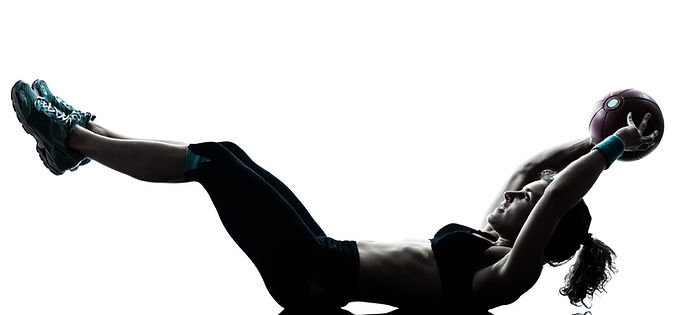 Woman doing weighted ab exercises for core strength