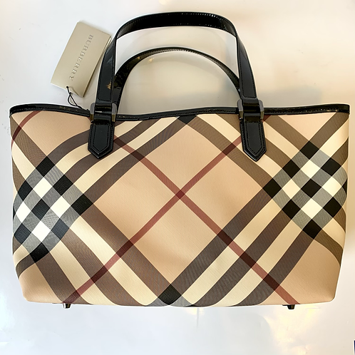 Burberry Nova Check Large Tote with Wallet