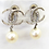 Thumbnail: CHANEL 15C Large Silver CC Dubai Moon Crystal Clip Earrings