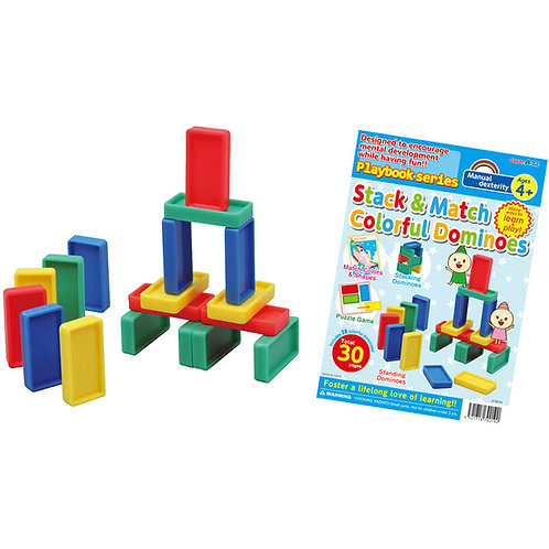 七彩骨牌遊戲 Stack &Math Colorful Dominoes ( FOR 4+ )