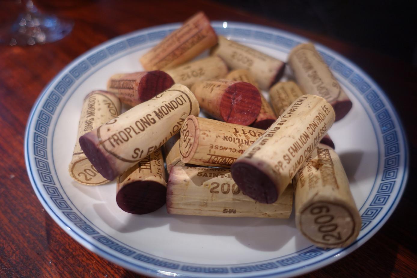 Corks of Château Troplong Mondot