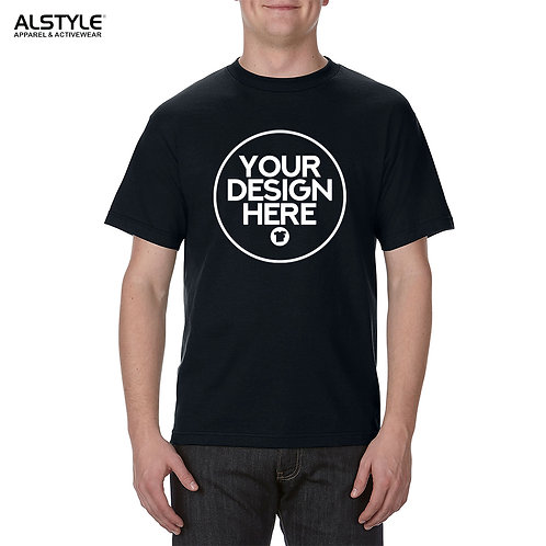 1 Color Screen Print On Alstyle Apparel T-shirt
