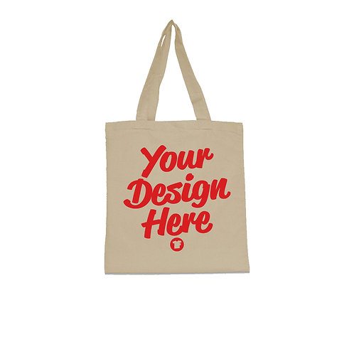 Any Color Print on Natural Tote Bags