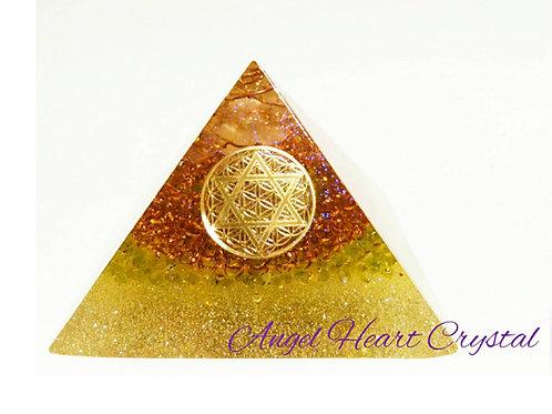黄金比 六芒星 ピラミッド型オルゴナイト  ~クレオパトラの秘宝~